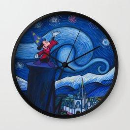 Starry Night Over The Magic Kingdom Wall Clock