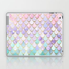 Iridescent Mermaid Pastel and Gold Laptop & iPad Skin