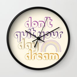 Don't Quit! Wall Clock