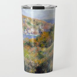 Hills around the Bay of Moulin Huet, Guernsey by Renoir Travel Mug