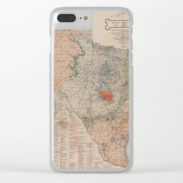 Vintage Geological Map of Texas (1920) Clear iPhone Case