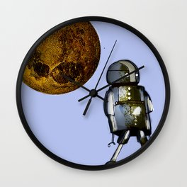 The small solitary robot Wall Clock
