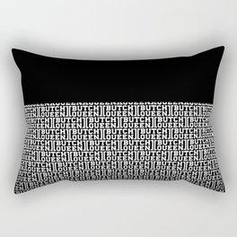 BQ - fade 2 -blk Rectangular Pillow