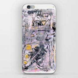 Abstrat Art gold pink iPhone Skin
