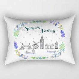 Christmas Europe Rectangular Pillow