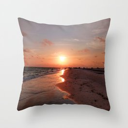 Siesta Key Sunset Throw Pillow