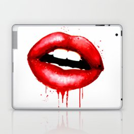 Red Lips Watercolor Print Fashion Poster Art Lipstick Chic Make Up Laptop & iPad Skin
