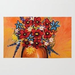 Flowers On Table Rug
