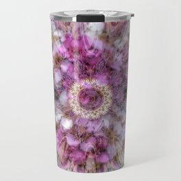 Floral fusion mandala Travel Mug