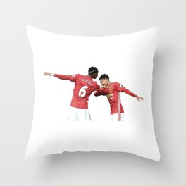 Pogba Lingard - Manchester United - Dab Throw Pillow
