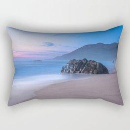 Ocean Tides - Mist Rolls in At Sunset in Big Sur Rectangular Pillow