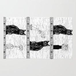 Black Cats Rug