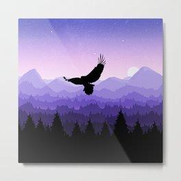 Eagle Skyline Metal Print