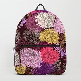 Autumn garden of chrysanthemums Backpack