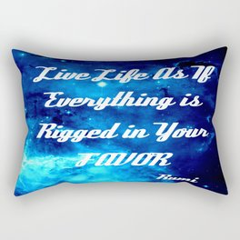 Everything Is Rigged - Rumi Inspirational Quote Rectangular Pillow