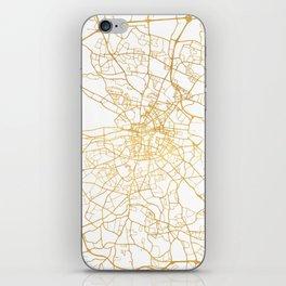 DUBLIN IRELAND CITY STREET MAP ART iPhone Skin