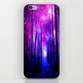 Magical Forest Path Fuchsia Purple Blue iPhone Skin