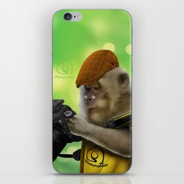 Photographer of the apes iPhone Skin