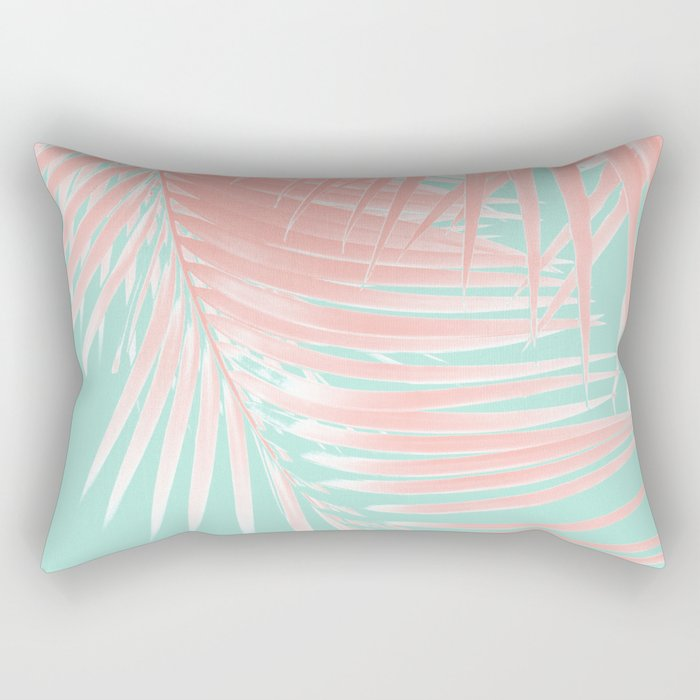 Palm Leaves Summer Vibes #9 #tropical #decor #art #society6 Rectangular Pillow