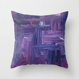 Violet Wow Throw Pillow