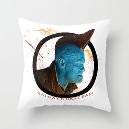 Galaxy's Best Dad! Throw Pillow