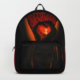 Beautiful Woman With Glowing Healing Heart Backpack