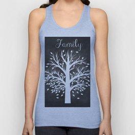 Family Tree Black and White Unisex Tank Top