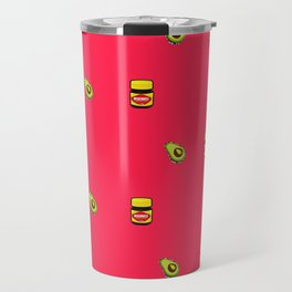 Vegemite & Avocado Repeat Print  Travel Mug