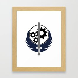 Brotherhood of Steel Framed Art Print