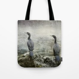 Two Cormorants Tote Bag