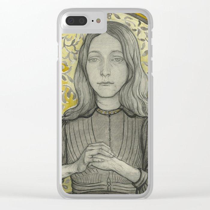 Art Nouveau Portrait b  Richard Roland Clear iPhone Case
