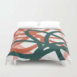 Abstract Lines 01A Duvet Cover