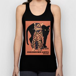 Retro vintage Munich Zoo big cats Unisex Tank Top