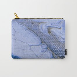 Acrylic Pour Blue Swirl Carry-All Pouch