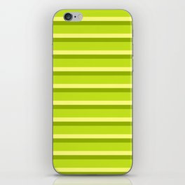 Lime Green Stripes iPhone Skin