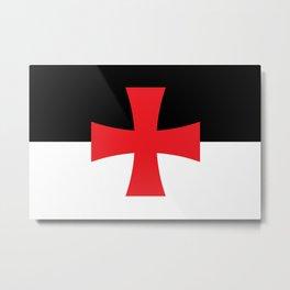 Knights Templar Flag Metal Print