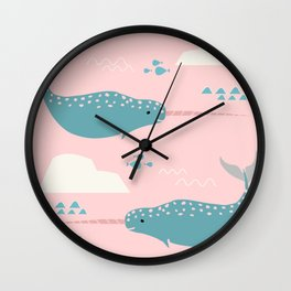 Narwhal pink Wall Clock