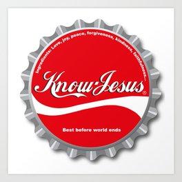 Know Jesus Art Print