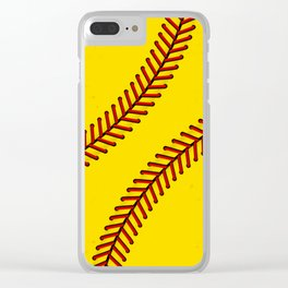 Fast Pitch Softball Clear iPhone Case