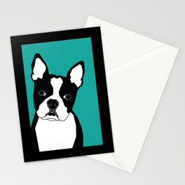 Boston In Abstract Stationery Cards