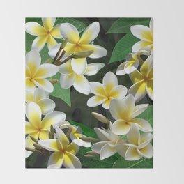 Plumeria Flowers Throw Blanket
