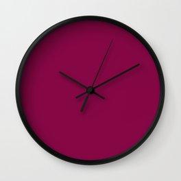 Rose Bud Cherry Colour Wall Clock