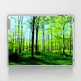 Sky Blue Morning Forest Laptop & iPad Skin