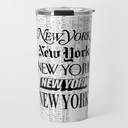 New York City black and white New York poster I love heart NYC Design black-white home wall decor Travel Mug