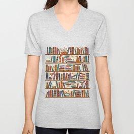 Bookshelf Unisex V-Neck