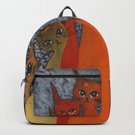 Casablanca Whimsical Cats Backpack
