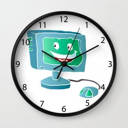 Computer Smile. Wall Clock