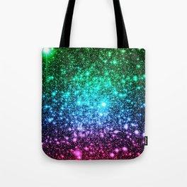 glitter Cool Tone Ombre (green blue purple pink) Tote Bag