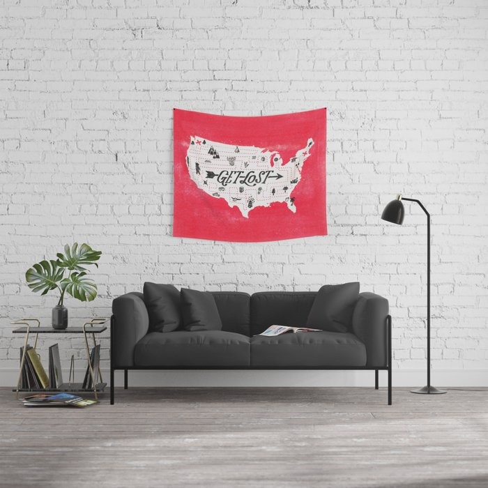 Get Lost Wall Tapestry