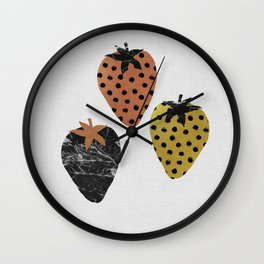 Strawberries Art Print Wall Clock